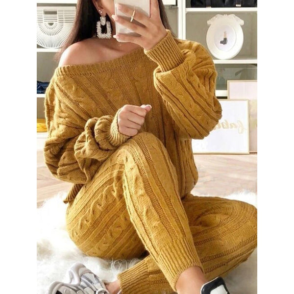 Fashion Two Piece Warm Suit