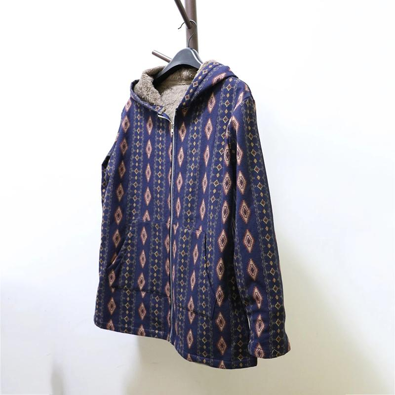 Vintage Printed Zipper Coats