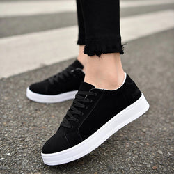 Breathable Casual Lacing Flat Sneakers