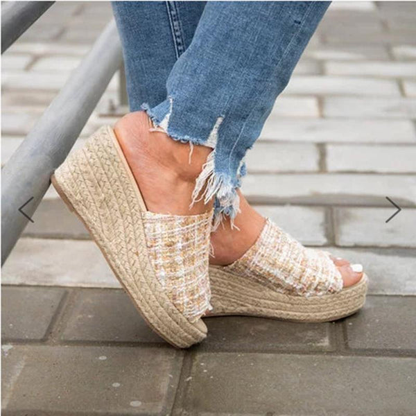 Casual Espadrille Wedge Sandals&Slippers