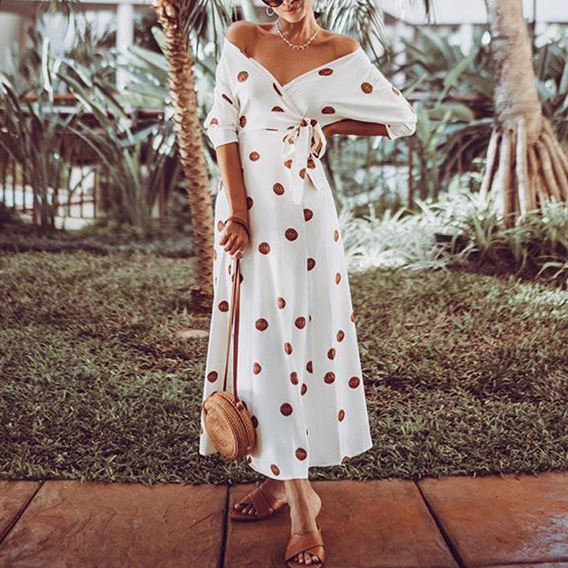 Sexy Off Shoulder Printed Dress