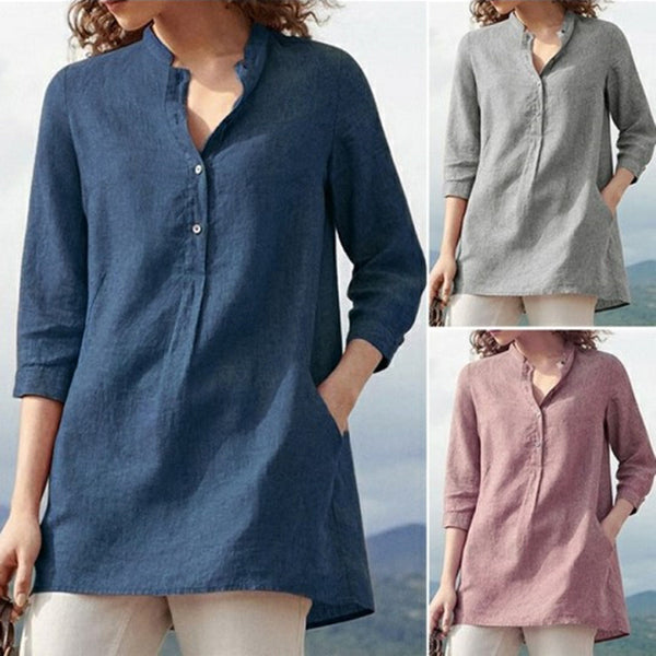 Loose Plus Size Women Casual Blouses