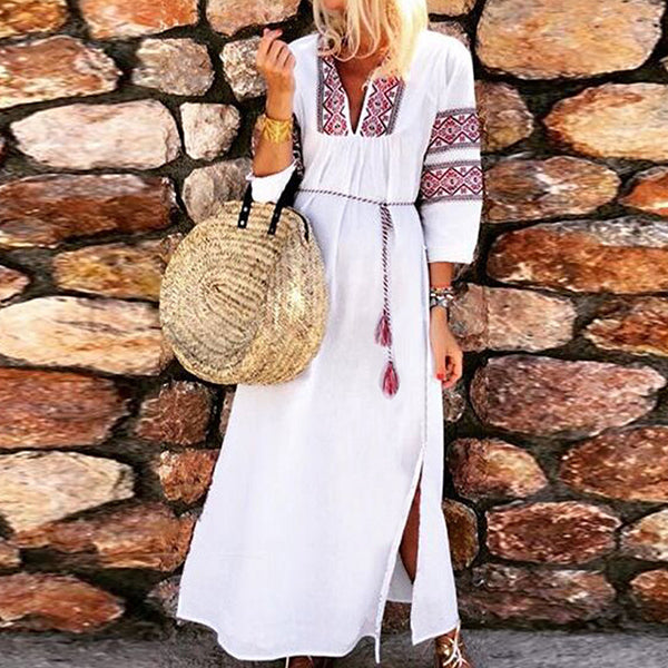 Bohemian Printed Vacation Maxi Dress