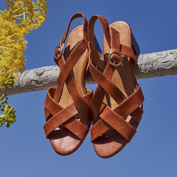 Summer Casual Comfortable Flat Toe Buckle Sandals