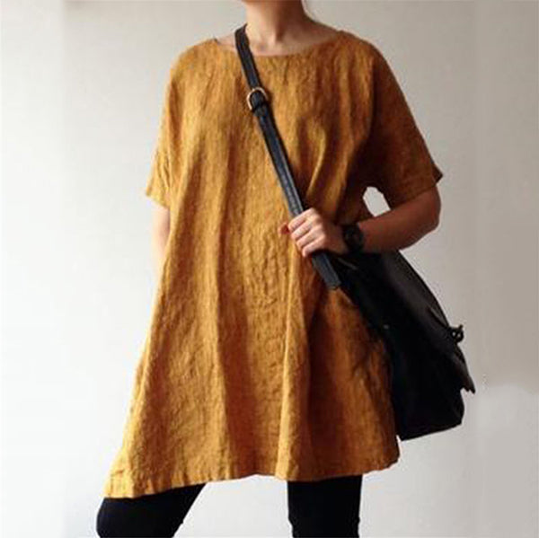 Solid Color Loose Casual Dress