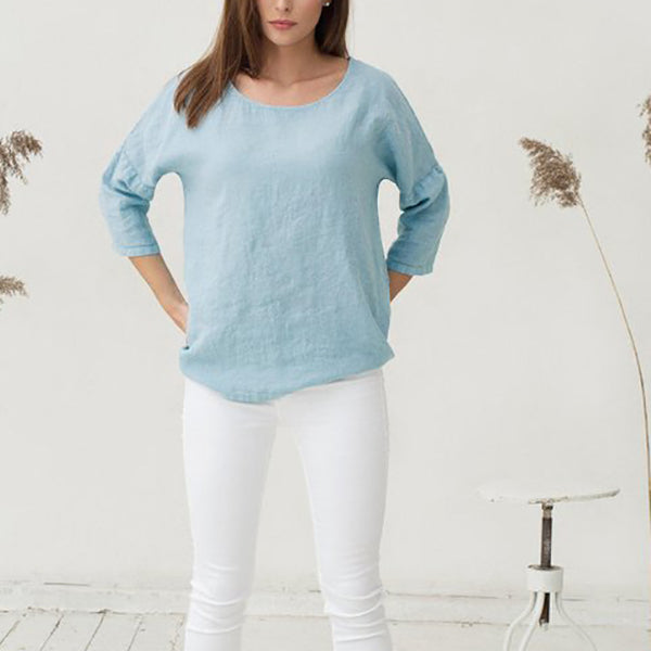 Simple Casual Half Sleeve Blouses