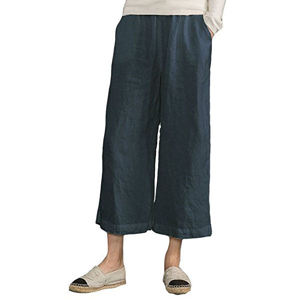 Loose Casual Solid Color Pants