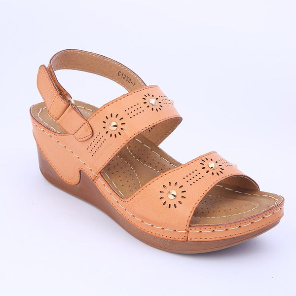 Women Casual Shoes Hook and Loop Wedge Sandals