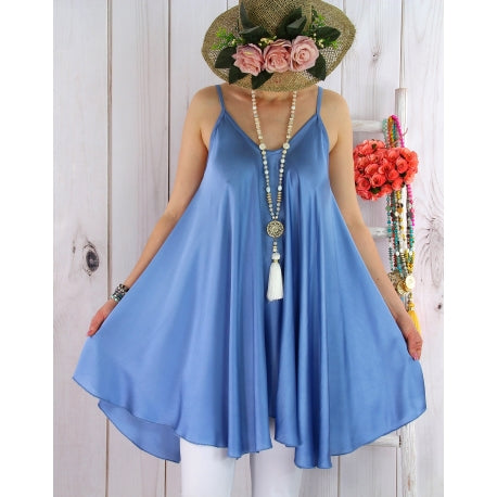 Sleeveless Summer Daily V Neck Plus-Size Slip Dress