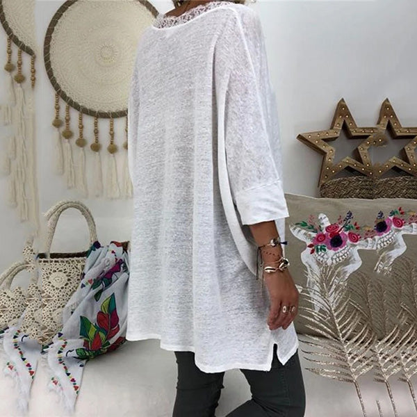 Women 3/4 Sleeve Fall Plus Size Blouses