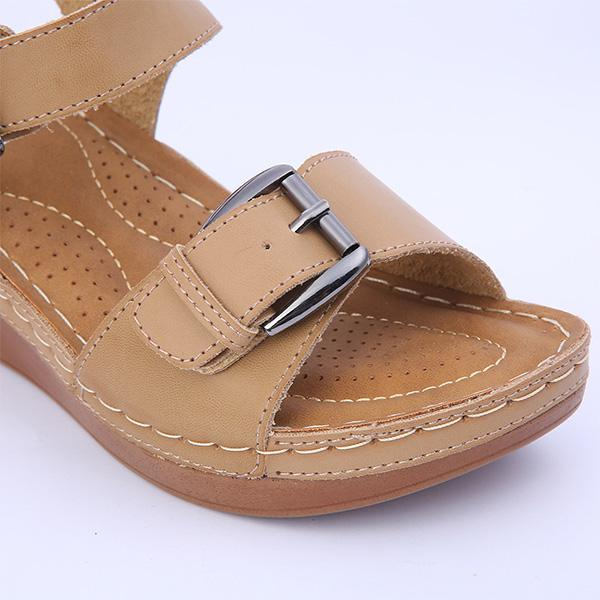 Summer Buckled Casual Wedge Sandals