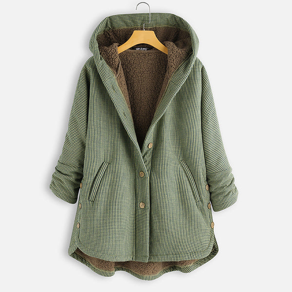 Fashion Hoodie Buttoned Plus Size Coats