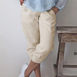 Casual Solid Color Pocket Pants