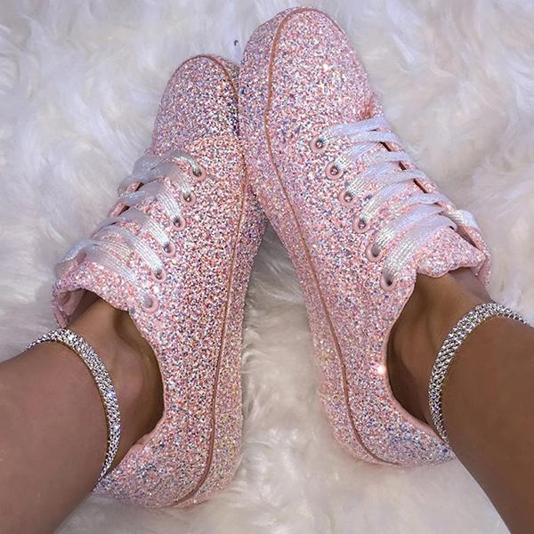 Classic Fashion Lace-Up Round Toes Sneakers