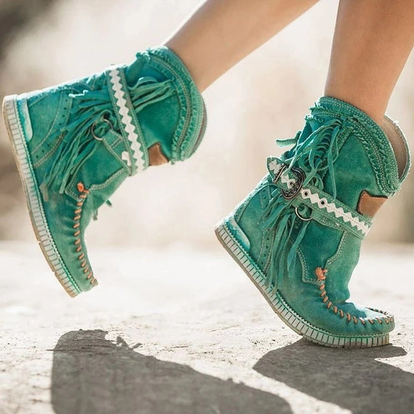 Women New Style Tassels Ankle Boots