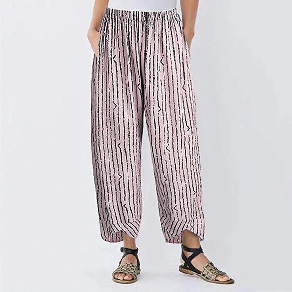 Daily Loose Striped Pants