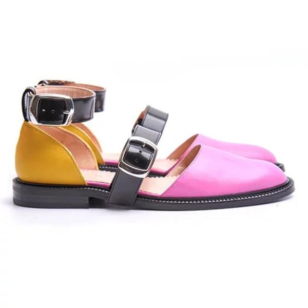 Fashion Trends Low Heel Color block Flats