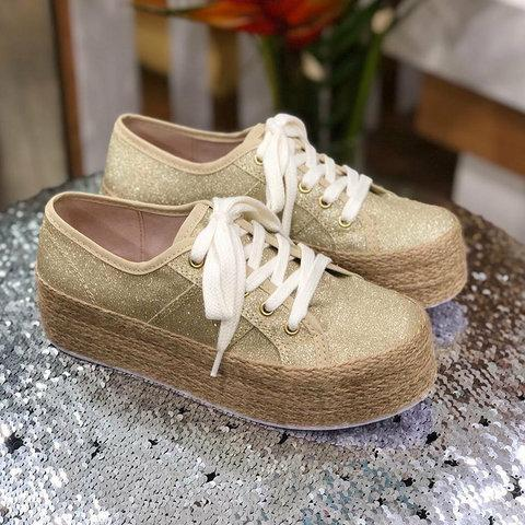 Women's Casual Lace Up Platform Sneakers