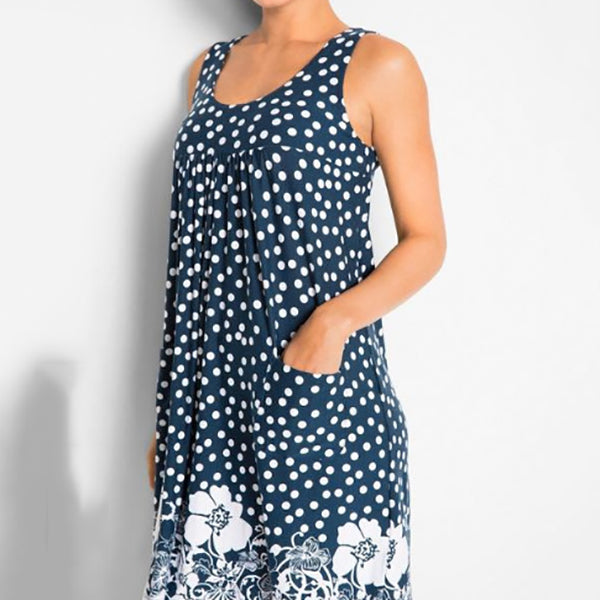 Dot Printed Sleeveless Dress