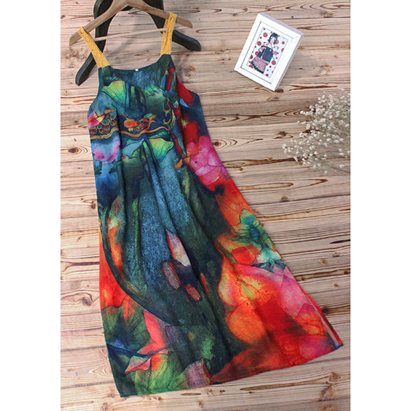 Women's Sleeveless Summer Printed Dresses