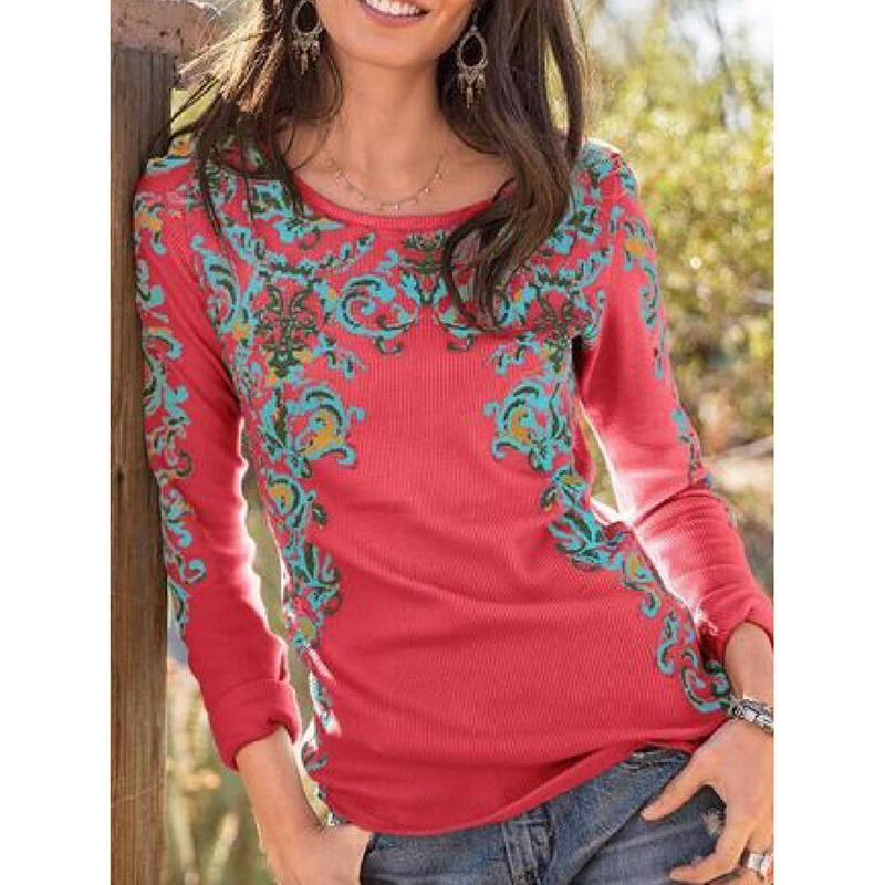 Printed Long Sleeve Shirts & Tops