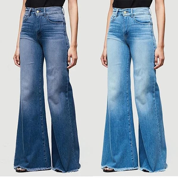 Large Sizes Skinny Wide Leg Jeans