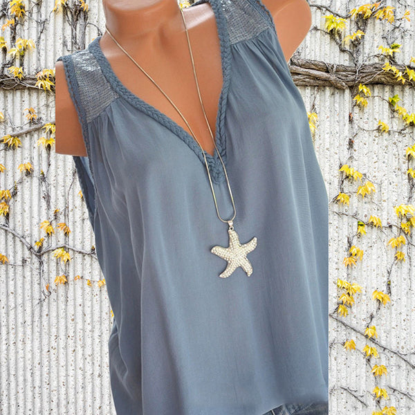 Casual Sleeveless Summer Loose Vests