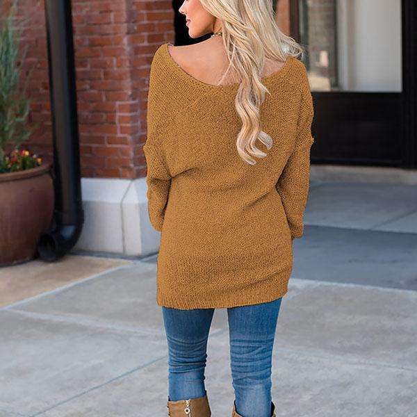 Asymmetric Casual Long Sleeve Sweater