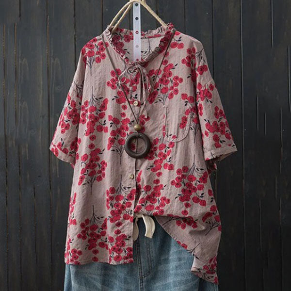 Loose Casual Printed Blouse