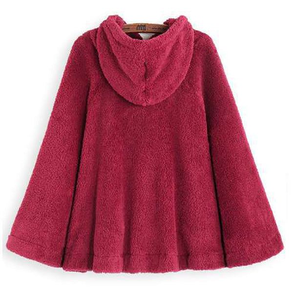 Women Casual Solid Color Fall Hoodies