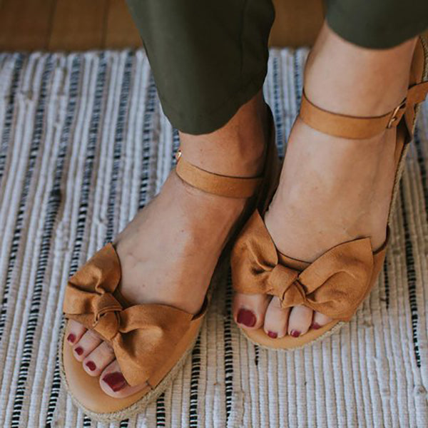 Casual Bowknot Flat Sandals