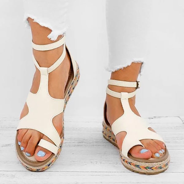 Casual Summer Adjustable Buckle Flat Heel Sandals