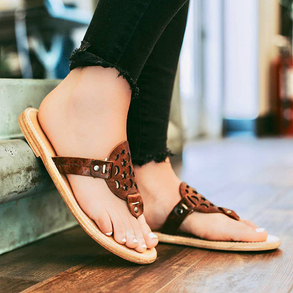 Vintage Hollow Flat Daily Slippers