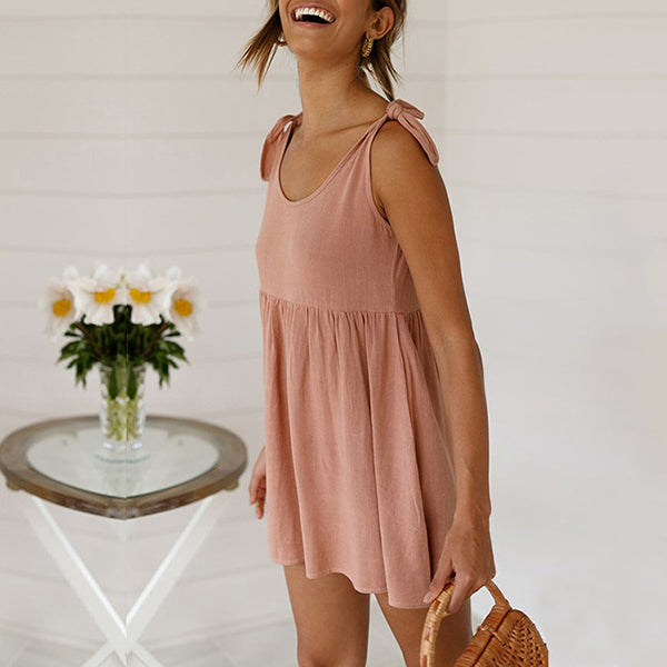Summer Casual Solid Color Women Dress