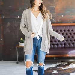 Casual Solid Color Cardigan Daily Coats