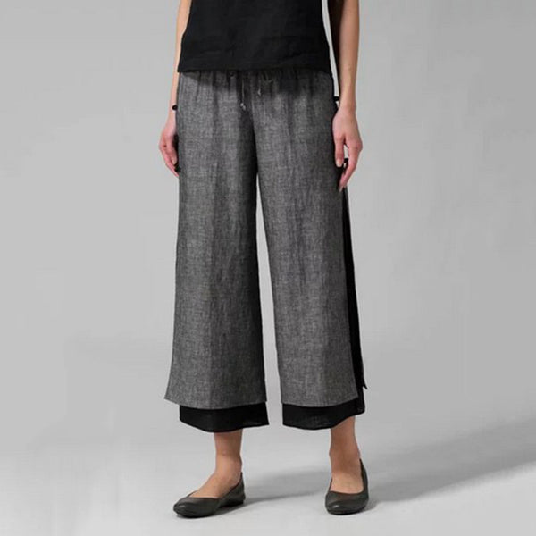 Plus Size Irregular Hem Loose Pants