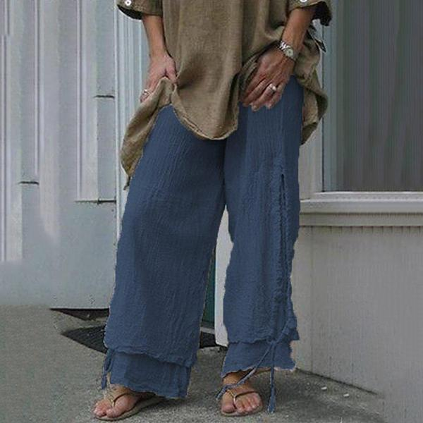 Comfortable Lace-Up Loose Pants