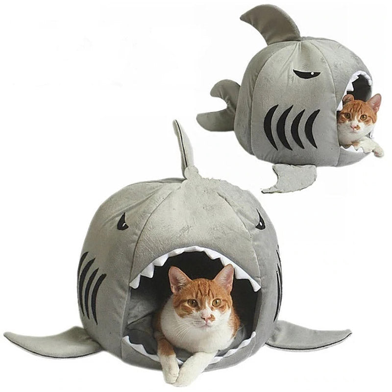 Cushion Large & Small Dog & Cat  Super Soft Shark Bed