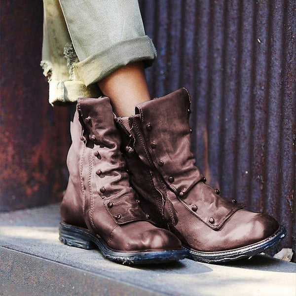 Women's Comfy Round Toe Boots