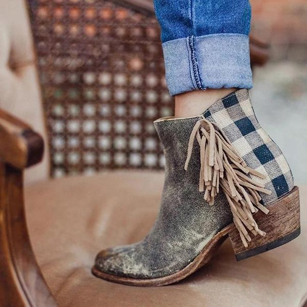 Casual Tassel Slip-On Daily Boots