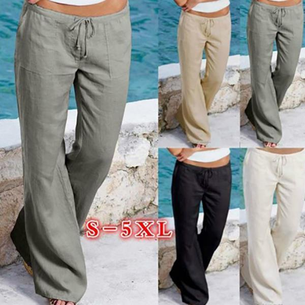 Plus Size Daily Casual Solid Color Pants