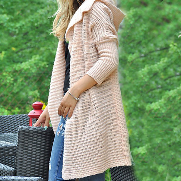 Long Sleeve Solid Color Loose Coats