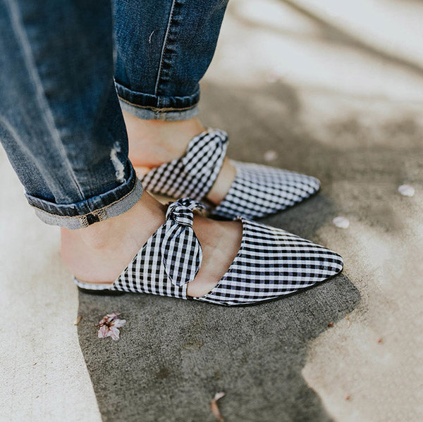 Fashion Bow Pointed Toe Slipper