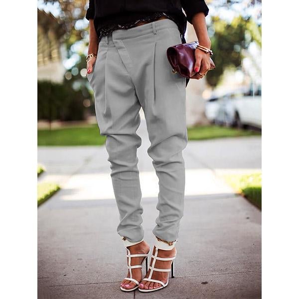 Women Fashion Casual Solid Color Harem Pants