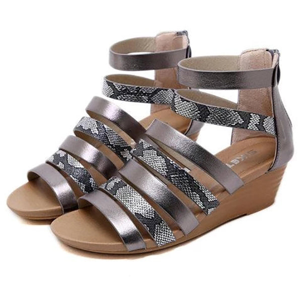 Casual Peep Toe Daily Wedge Heel Sandals