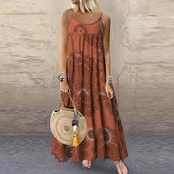 Summer Round Neck Sleeveless Dresses