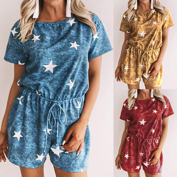Star Printed Comfortable Jumpsuits