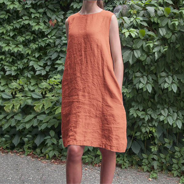 Daily Loose Solid Color Dress