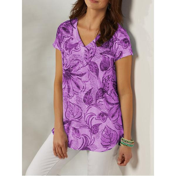 Summer New Printed Short Sleeve Plus Size Shirt