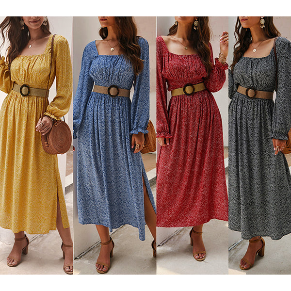Fashion Square Collar Women Dress